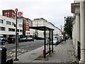 TQ2978 : Bus stop in Claverton Street, Pimlico by PAUL FARMER