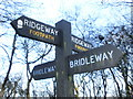 SP8506 : Close up of signposts for the Ridgeway by Peter 