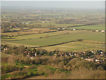 SP8307 : View of Ellesborough from Coombe Hill by Peter S