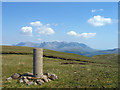NG3426 : Trig point on Beinn Bhreac by Trevor Littlewood