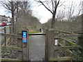 SJ9594 : Entrance to TransPennine Trail by Gerald England