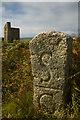 SW5037 : Boundary Stone near St.Ives by Guy Butler-Madden