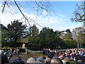 TF6928 : Royal security outside Sandringham Church - Christmas Day 2011 by Richard Humphrey