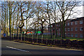 SP0584 : Fencing and a trench alongside Edgbaston Park Road by Phil Champion