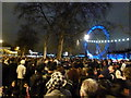 TQ3079 : London: New Years Eve crowds on Victoria Embankment by Chris Downer