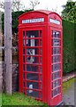 SO8258 : Red telephone kiosk, Main Road, Hallow by P L Chadwick