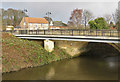 SE7971 : Footbridge and road bridge over the Derwent by Pauline Eccles