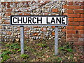 TM4575 : Church Lane sign by Adrian Cable