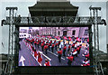 TQ2980 : TV screen, Trafalgar Square, New Year's Day, 2012 by Julian Osley