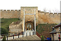 SK9771 : Lincoln Castle, west gate by Richard Croft