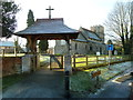 SP8128 : Lychgate at St Mary the Virgin by Malcolm Campbell