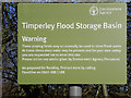 SJ7789 : Timperley Flood Storage Basin - Warning Sign by David Dixon