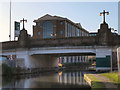 SJ7689 : Bridgewater Canal, Altrincham Bridge by David Dixon
