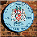 SJ7388 : Dunham Massey plaque by David Dixon