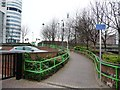 SE2932 : Path and cycle route up to Neville Street by Christine Johnstone