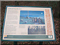 TL7791 : Medieval wayside cross, information board by Hugh Venables