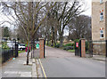 TQ2080 : Acton Park gates by Alan Murray-Rust