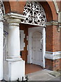 TQ2178 : St Michael and All Angels Parish Hall, entrance by Alan Murray-Rust