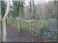 TQ5459 : Gate on the North Downs Way near Otford by Malc McDonald