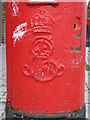 TQ2183 : Edward VII postbox, St. John's Avenue / Drayton Road, NW10 - royal cipher by Mike Quinn