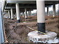 SP1390 : M6 motorway repairs by Michael Westley