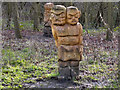 SD7912 : Wooden Carvings, Burrs Country Park by David Dixon