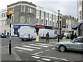TQ2481 : Zebra crossing at junction of St Lawrence Terrace and Chesterton Road by Stuart Logan
