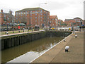 SK7953 : Newark Lock and old warehouses by Trevor Rickard