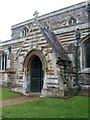 TL1653 : The Parish Church of St Peter, Tempsford, Porch by Alexander P Kapp