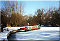 SU5981 : Frozen Mooring at Cleeve Court by Des Blenkinsopp