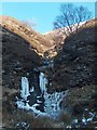 SK1193 : Miry Clough frozen waterfall in Alportdale by Neil Theasby