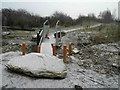 SE4203 : Is a rock, concrete filled pipes, a ditch, squeeze gate and a narrow bridge enough to deter off roaders? by Steve  Fareham