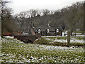 SJ9684 : Bridge and Cottage, Bollinhurst Brook by David Dixon