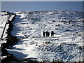 SD7677 : Walkers ascending Park Fell by John Lucas