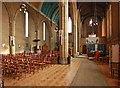 TQ2870 : St Barnabas, Gorringe Park Avenue, Mitcham - South aisle by John Salmon