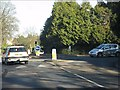 SP1381 : Mini roundabout on St Bernards Road by Peter Whatley