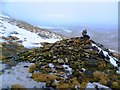 SK0689 : Cairn at North West End of Kinder Scout by Anthony Parkes