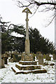SK8475 : Churchyard cross by Richard Croft