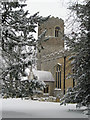 TL7963 : St Nicholas' Church, Little Saxham by Bob Jones