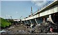 J3475 : Weir and cross-harbour bridges, Belfast (68) by Albert Bridge