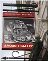 TQ3877 : Spanish Galleon Pub Sign, Greenwich by David Anstiss