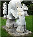 Dist:0.1km<br/>Three sculptures, depicting the three ages of man: childhood, maturity [[2809987]] and old age [[2809998]], located in the landscaped grounds aptly near the Office of Births, Marriages and Deaths at Gateshead Civic Centre, at the north-east corner near the junction of Charles Street and High West Street. The sculptures of paired figures in affectionate poses, entitled 'The Family', were carved in Shap limestone by Gordon Young, and were unveiled in 1991.
