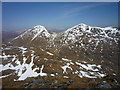 NN4121 : View towards Ben More (left) and Stob Binnein (right) from near Cruach Ardrain summit by Alan O'Dowd