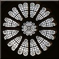 TQ2974 : Holy Spirit, Narbonne Avenue, Clapham - Rose window by John Salmon