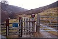 NO1588 : Gate at the start of the Glen Callater track by Jim Barton
