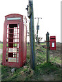 TG3820 : K6 telephone box on the corner of Miles's Loke, Catfield by Evelyn Simak
