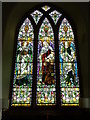 NN8936 : Stained glass window, Amulree Parish Kirk by Miss Steel