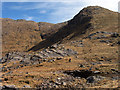NM8378 : Ridge with rock slabs rising to Beinn Odhar Bheag by Trevor Littlewood