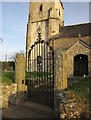 SS6202 : Gate, St Mary�s church, Honeychurch by Derek Harper