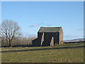 NY7010 : Buttressed barn north of Little Asby by Karl and Ali